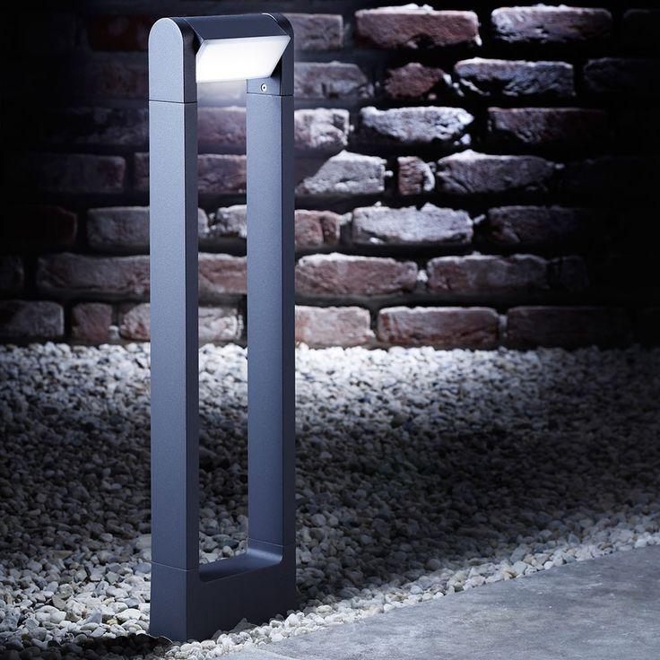 SKAPETZE -    Bollard LED-Außen-Pollerleuchte 65 cm / 360 Lumen / Anthrazit Aussenleuchten Pollerleuchten / Sockelleuchten