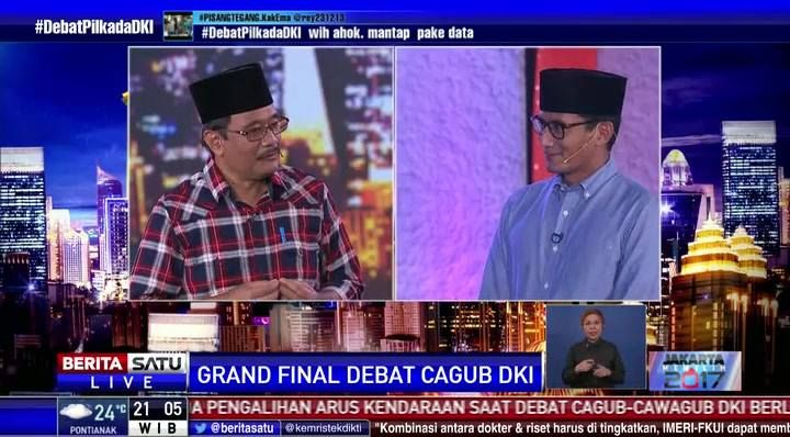 Sandiaga Salahuddin Uno : Saya fokus pada ekonomi dan infrastruktur. #GrandFinalDebat