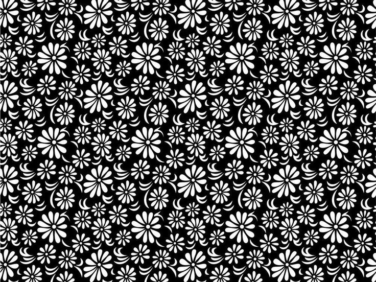Gallery for - black and white vintage flower wallpaper