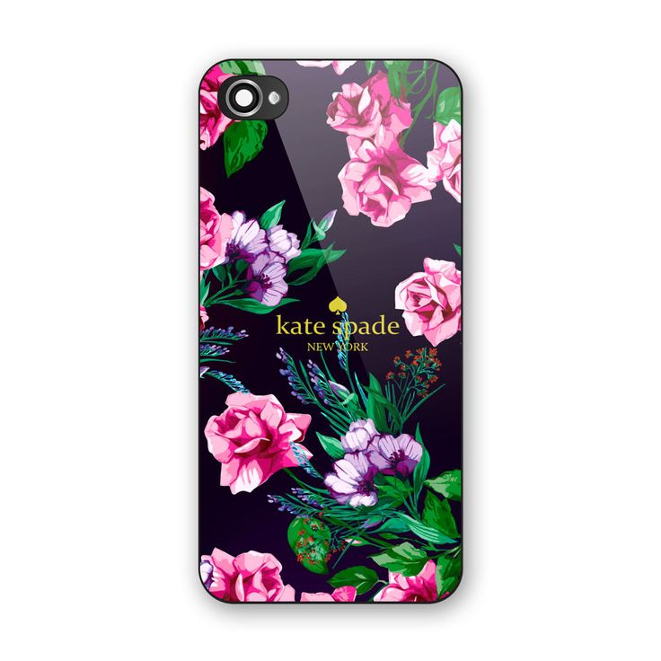 Kate Spade Beauty Pink Floral Design iPhone 6s Hard Black Case #UnbrandedGeneric