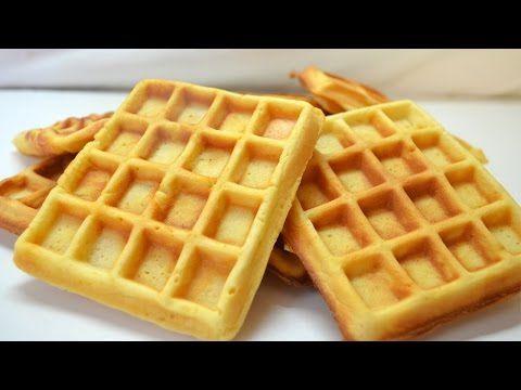 Como hacer waffles - crujientes por fuera y suaves por dentro - YouTube