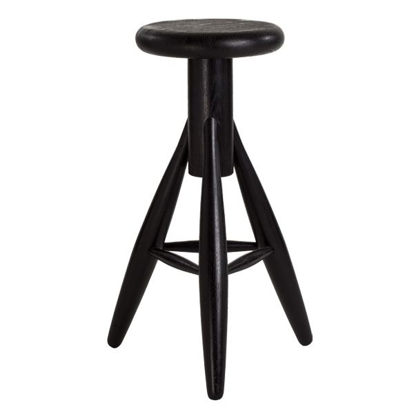 Rocket bar stool, black