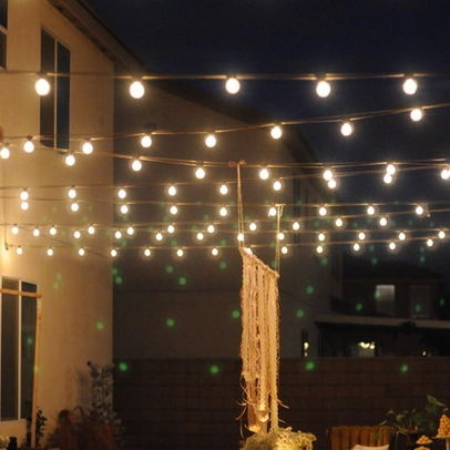 String Lights On A Porch : String Lights on Screen Porch Cabin Pinterest