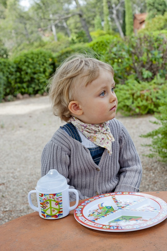 peaceful mealtime with peace & love collection