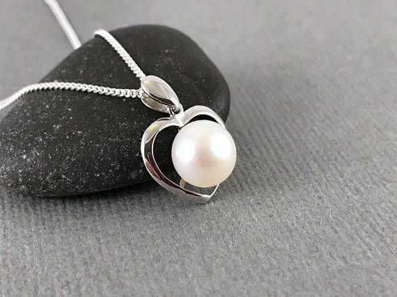 Sterling Silver Pearl Necklace Pearl Necklace White Freshwater