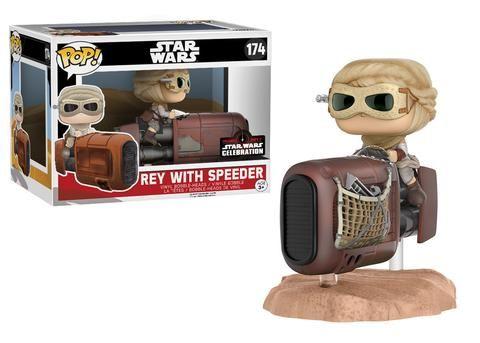 Star Wars The Force Awakens: Rey with Speeder Pop Ride by Funko, Star Wars Celebration Orlando 2017 exclusive