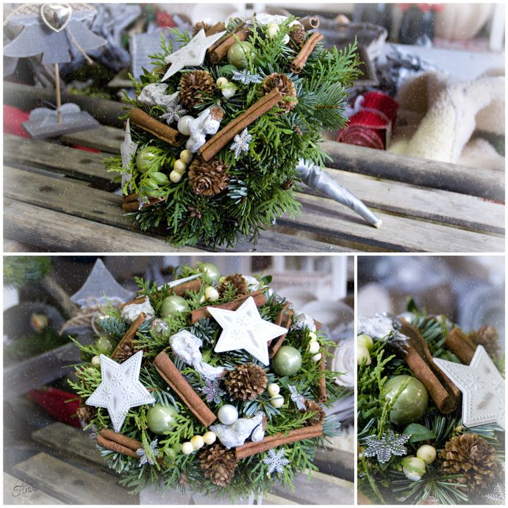 Vánoční kytice #christmas #flower #green #arrangement #decoration
