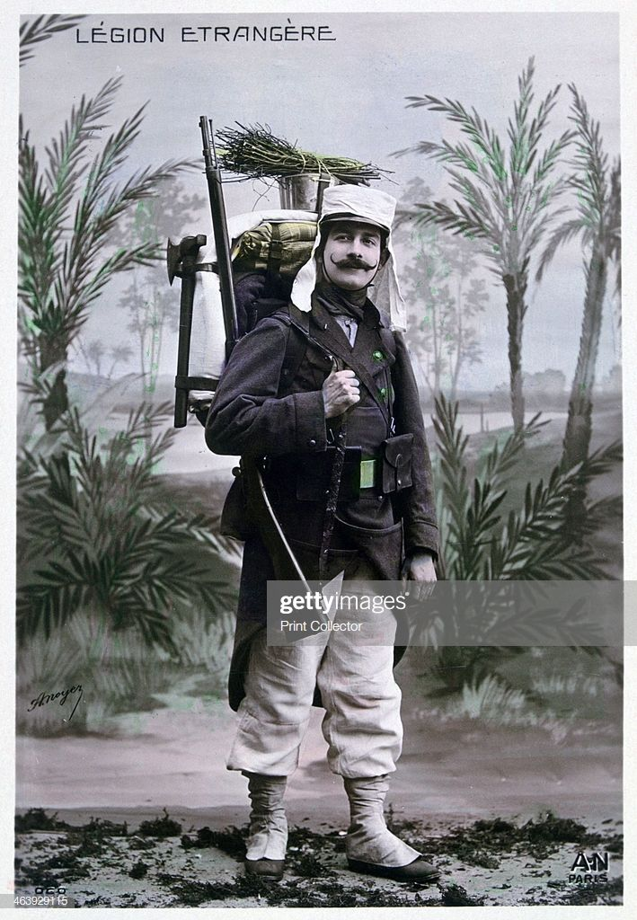 French Foreign Legionnaire C1900 French Postcard La Legion Etrangere Armee Francaise Militaire Francais