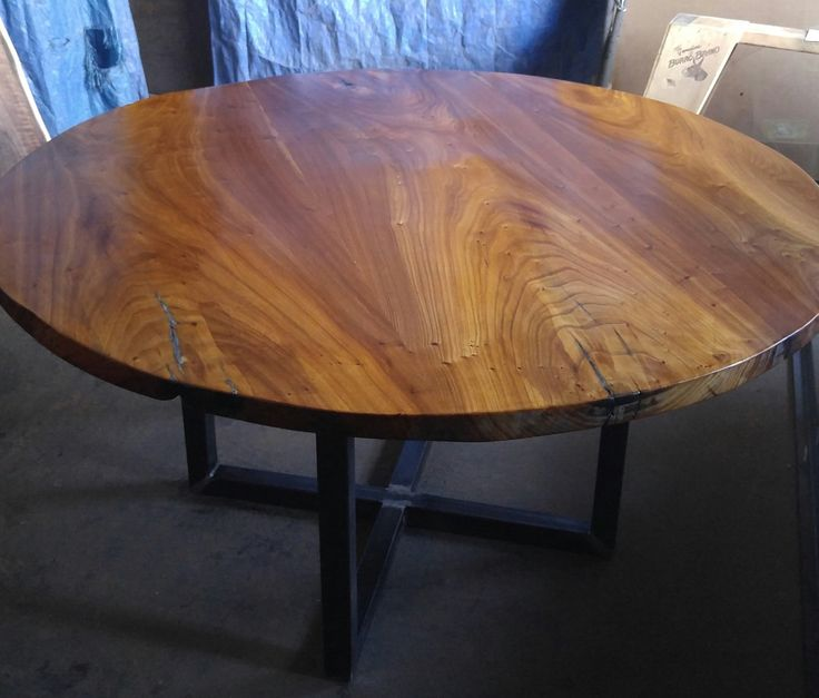 Vintage Wood Slab Coffee Table With Coral Reef: 1000+ Ideas About Round Table Top On Pinterest
