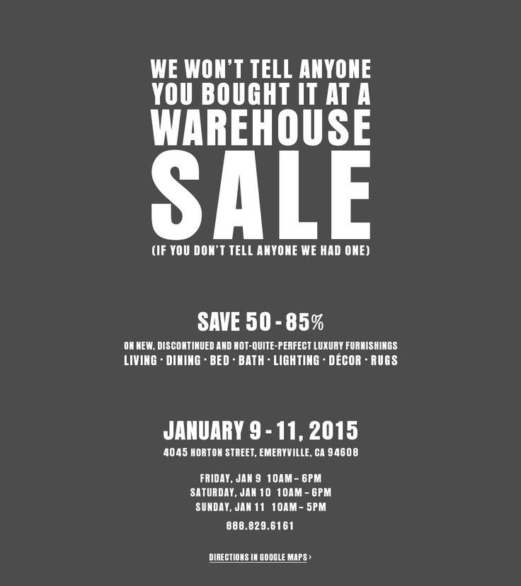 Warehouse Sale - Emeryville, CA