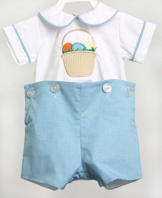 e2655c82d Easter Bunny Romper for Boy