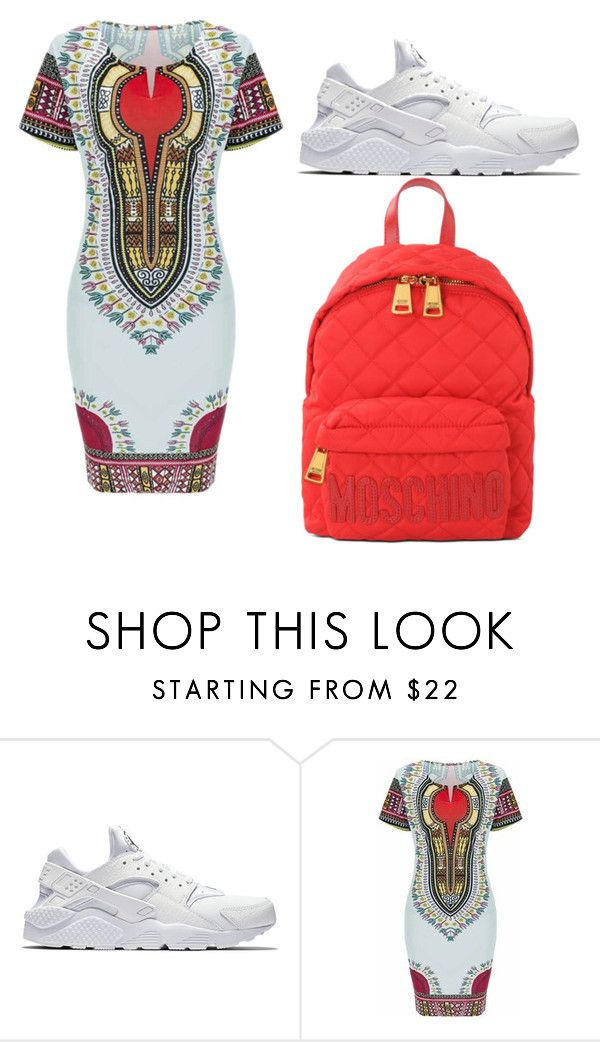 """""""picture day"""" by yolondaunique ❤ liked on Polyvore featuring NIKE and Moschino"""