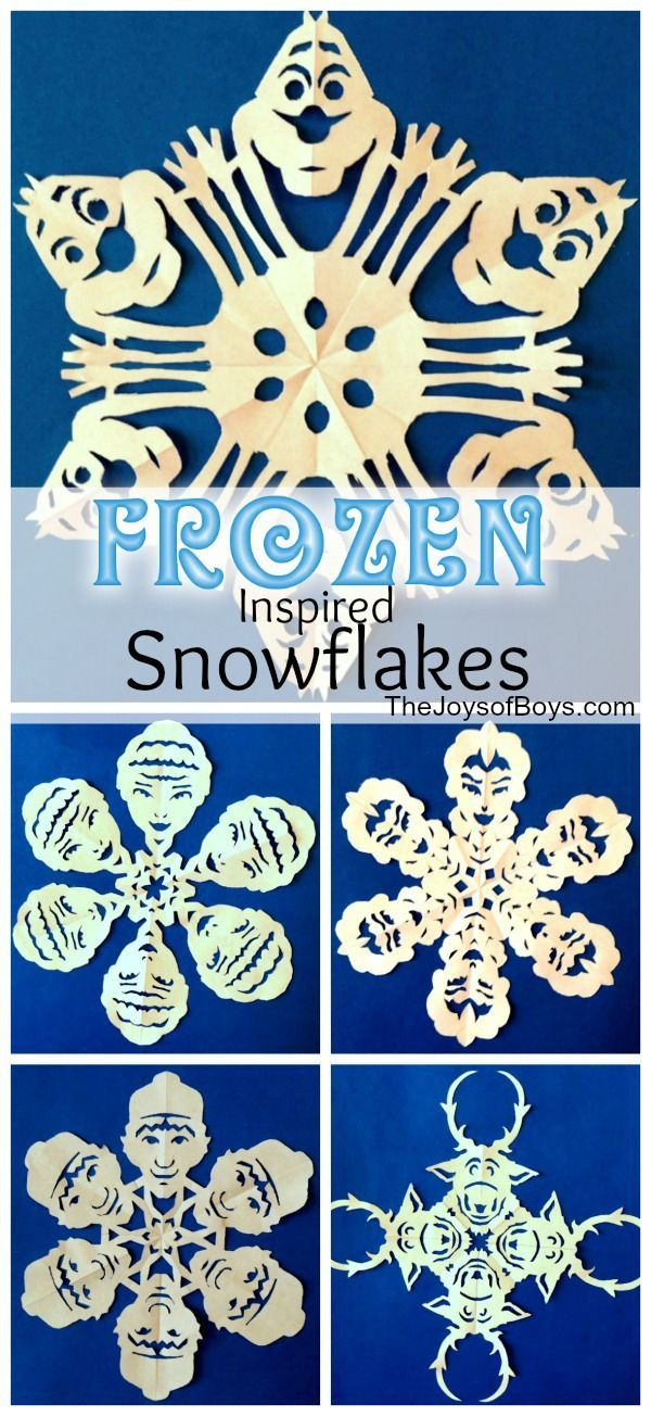 DIY frozen inspired snowflakes to make at home!