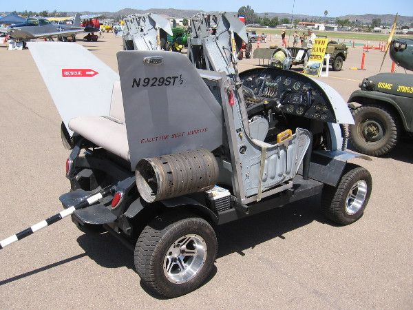 This Golf Cart Was Modified To Look Like A Tiny Jet Airplane It Even Has A Tailhook Commemorative Air Force San Diego Events Military Memorabilia