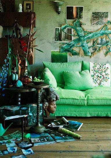 "Green couch ""Dutch photographer Hotze Eisma | Busy Being Fabuloys"""