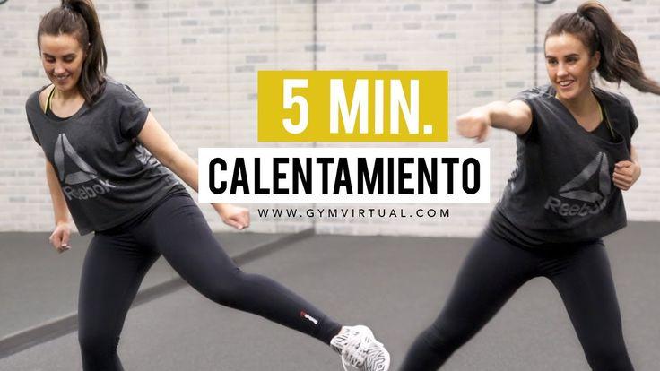 5 minutos de calentamiento | Cardio suave perfecto para antes de entrenar - YouTube