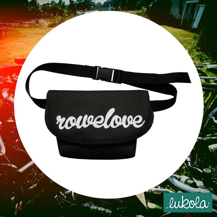 lukola handmade: ROWELOVE torebka na pas // ROWELOVE hip bag - bike...