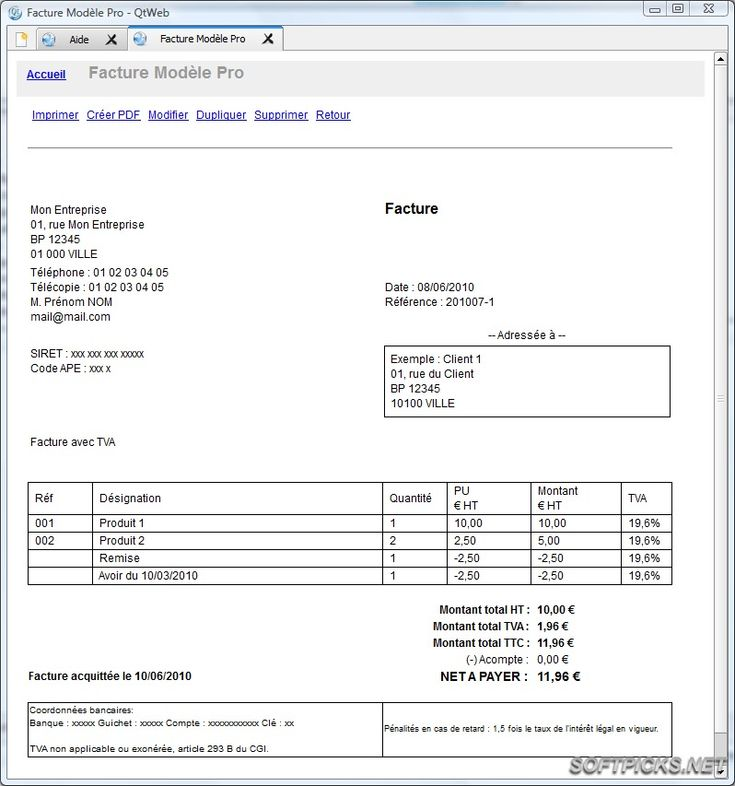 modele facture pour location saisonniere - Document Online ...