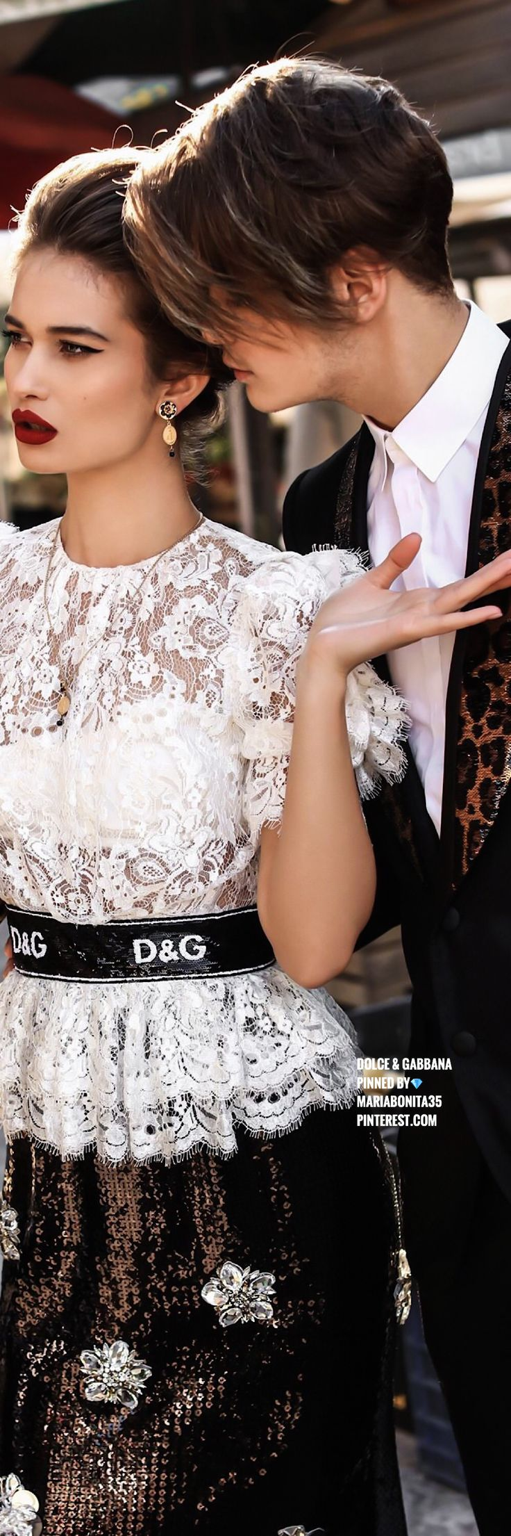 Dolce & Gabbana. QUALITY goes beyond style and fashion. It is respecting others' differences with a mature self confidence, elegance and class, Darling! Said Domenico to Stefano.