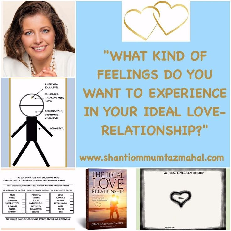 By working with YOUR IDEAL you can affect what kind of ideal feelings you want to experience in your Ideal Love-Relationship. Get to know more in my book www.theideallove-relationship.com www.shantiommumtazmahal.com #YourIdeal #Affect #IdealFeelings #Experience #TheIdealLoveRelationship #LoveRelationship #ShantiomMumtazMahal #Shantiom #Love #MumtazMahal