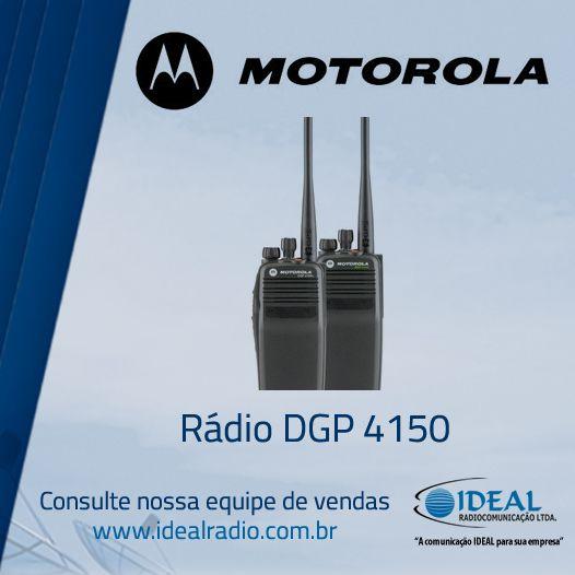 Venda e locação do rádio comunicador Motorola DGP4150 .O portifólio do rádio MOTOTRBO lhe oferece uma solução privada, econômica, baseada em padrões, que pode ser feita sob medida para satisfazer suas necessidades de cobertura e de característica exclusivas.
