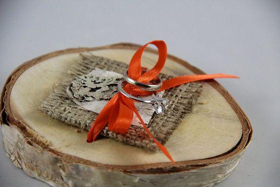 *___*  http://www.etsy.com/listing/86266975/rustic-ring-bearer-pillow