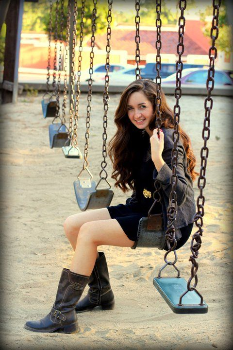 A cute idea for your senior photo...but a better one would be the flying off the swing into the future