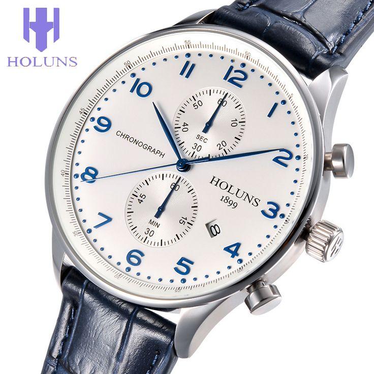 US $72.00 - HOLUNS QUARTZ WATCHES men business mens watch luxury simple Waterproof Sport popular mens wrist Leather strap watches CLOCKS