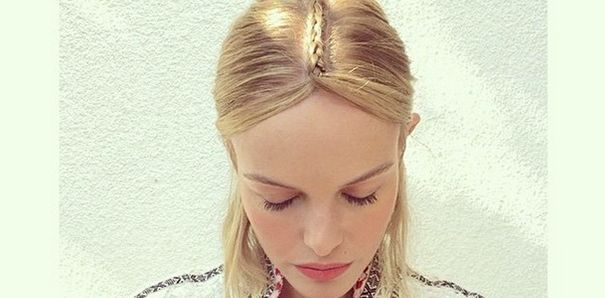 Coachella haarstijl how to: Kate Bosworth's gevlochten middenscheiding | Fashionlab