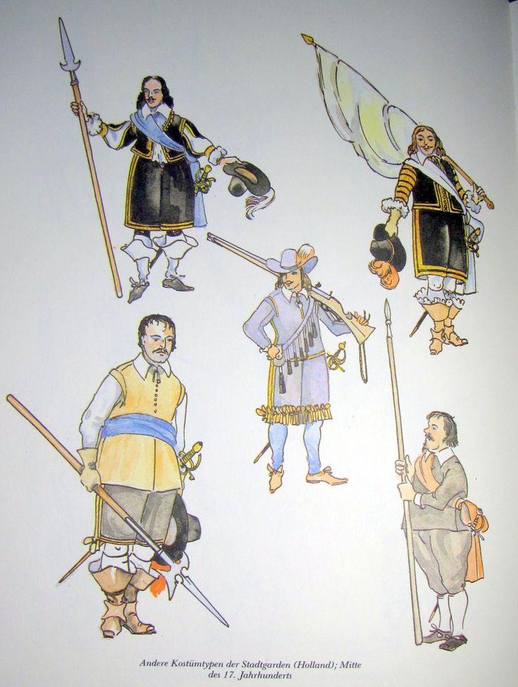 Andere Kostümtypen der Stadtgarden