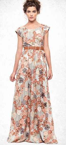 vestido largo floreado - Buscar con Google