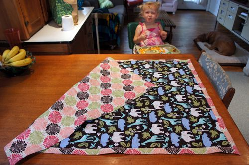 Self Binding Blanket With Batting Baby Pinterest