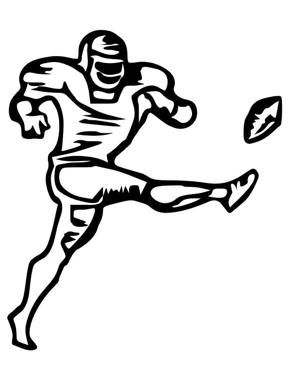 football kicker coloring pages