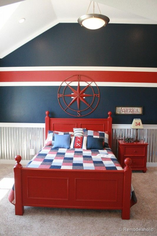 Image Result For Red Paint Highlights In Bedrooms