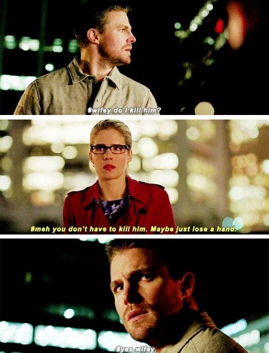 Taking permission from wifey! #Olicity #Arrow #4x13
