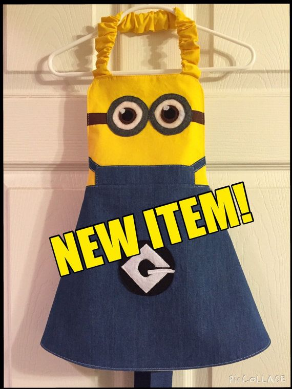 Minion Apron by LittleNuggetCreation on Etsy