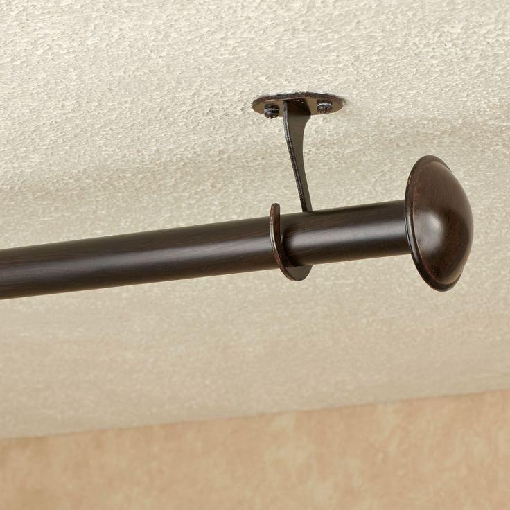 Nemesis Indoor Outdoor Curtain Rod Set - 28\ Nemesis Indoor Outdoor Curtain Rod Set