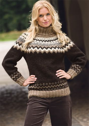 Icelandic Sweater Knitting Pattern : 214 best Fairisle Style Nordic Knitwear images on Pinterest