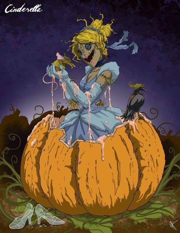 Dark Fairytale Heroines - Disney 'Twisted Princess' Series from Artist Jeffrey Thomas (GALLERY)