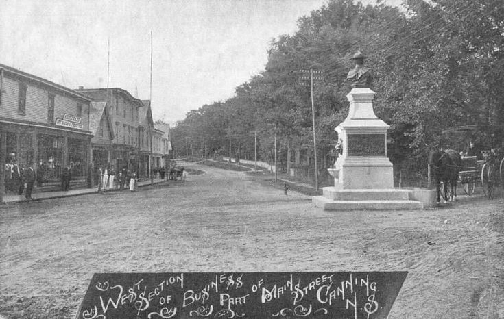 Looking westward along Main Street, early 1900s... in Canning, Nova Scotia