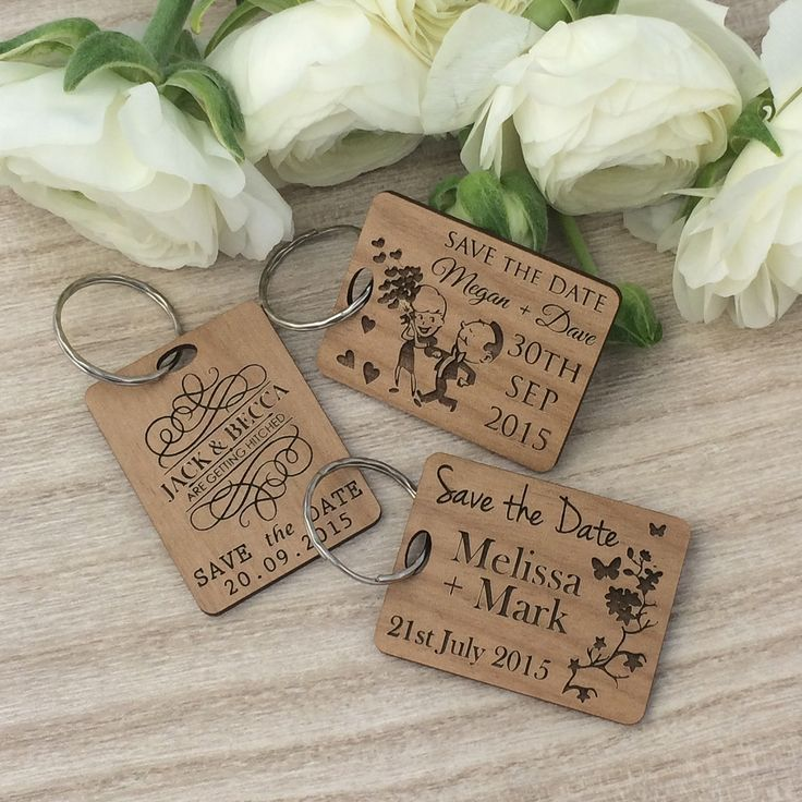cruise wedding save the date announcement%0A Wooden Engraved Save the Date Key Ring