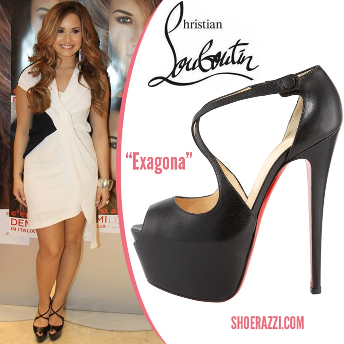 christian louboutin suede knotted peep-toe pumps