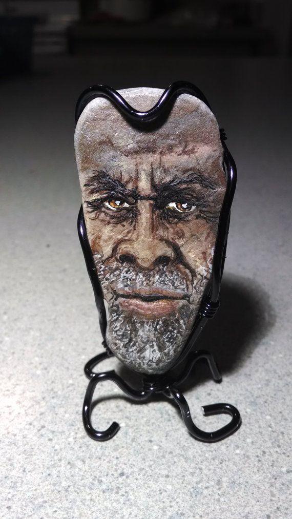 Joseph+Rockafella+is+a+hand+painted+stone+character.+by+MindofDeb,+$50.00