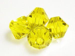 Austrian Swarovski Crystal Elements 5301/5328 Xilion Bicones 3mm - Citrine