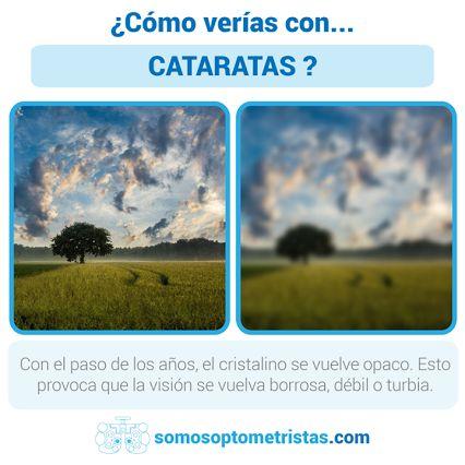CENTRO ÓPTICO Juan Ramón TENA:   ¿Sabes cómo verías con #cataratas?