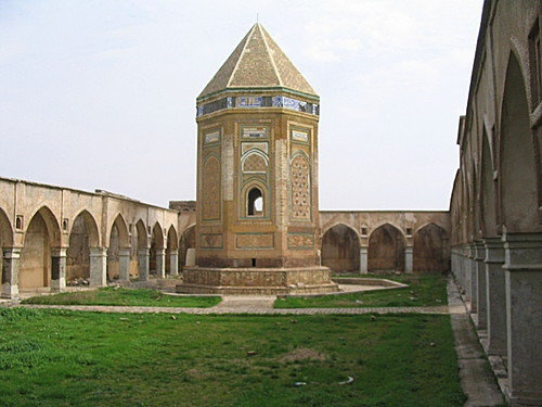 The Kirkuk Citadel is located in the centre of the city of Kirkuk in Iraq, and is considered to be the oldest part of the city. The citadel stands on an artificial mound 130 feet high located on a plateau across the Khasa River. The mound, or tell, is believed to have been built by King Ashurnasirpal II between 884 and 858 BCE as a military defense line of Arrapha.