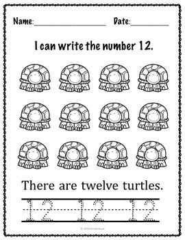I can write numbers 0-20 worksheets (K.CC.A.3