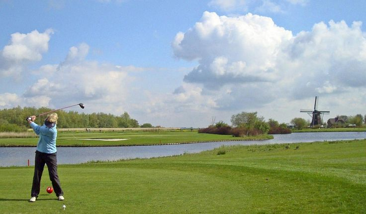 Golf course in the Netherlands, golfbaan in Nederland