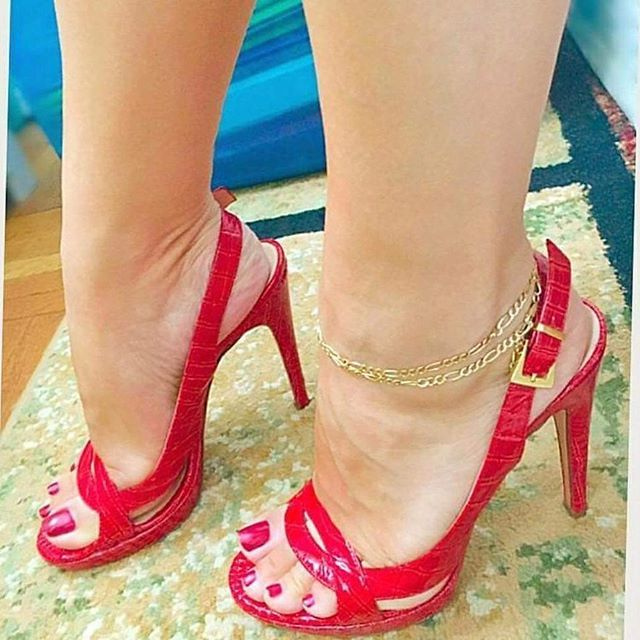 Childrens Red Heeled Shoes