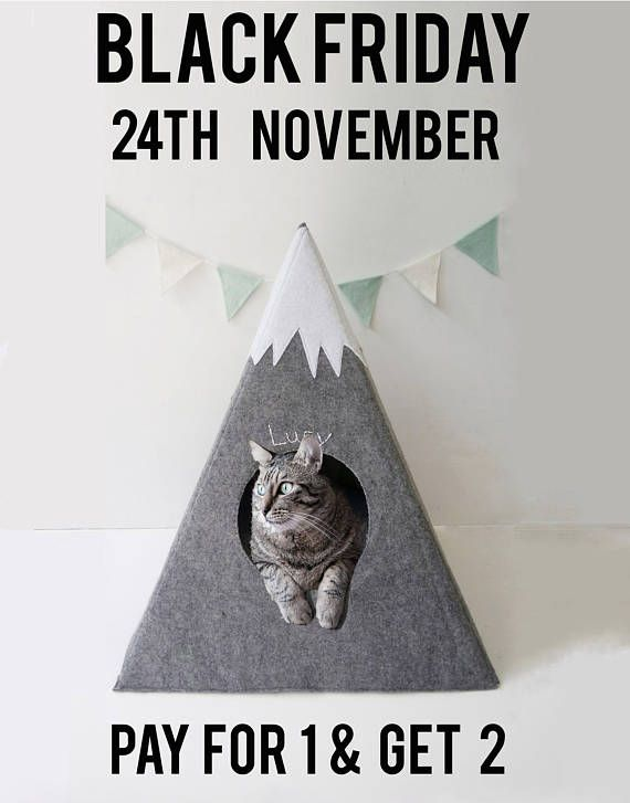 Cat bed with a matching pad  cat teepee   cat bed  cat cave